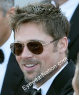 Brad Pitt wearing the Ray-Ban Aviator