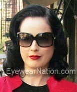 Dita von Teese wearing the Christian Dior 60s 1/S sunglasses